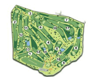 Meis Golf Course map