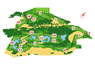 Rioja Alta Golf Course map