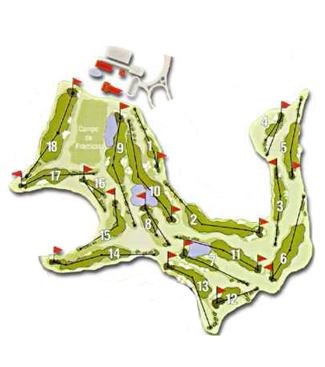 Castillo de Gorraiz Golf Course map