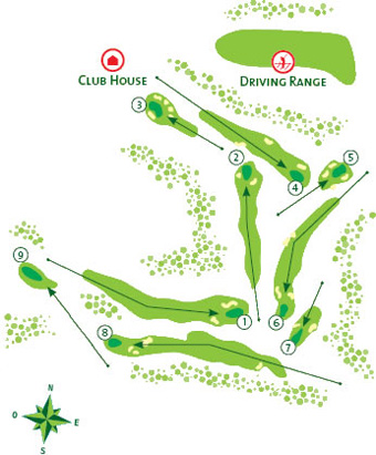 Pine Cliffs Golf Golf Course map