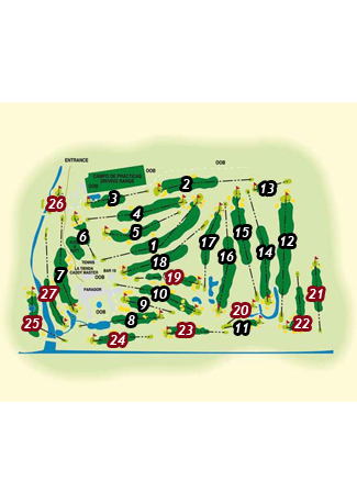 Parador de Malaga Golf Course map