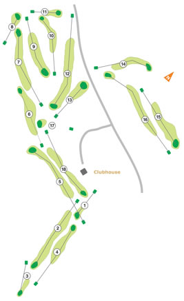 Lisbon Sports Club Golf Course map