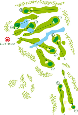 Balaia Golf Course Golf Course map