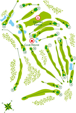 Benamor Golf Course Golf Course map