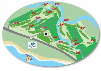 Isla Canela (Spain) Golf Course map
