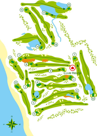 Quinta da Ria Golf Course Golf Course map