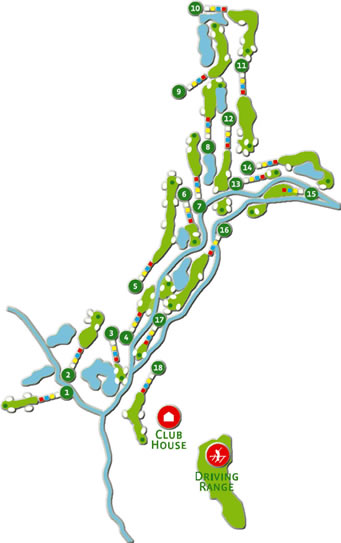 Amendoeira O'Connor Jnr. Golf Course map
