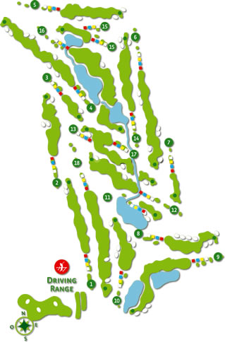 Laranjal Golf Course Golf Course map